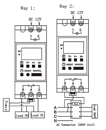 Din Rail Timer Wiring Diagram on common light switch wiring diagram
