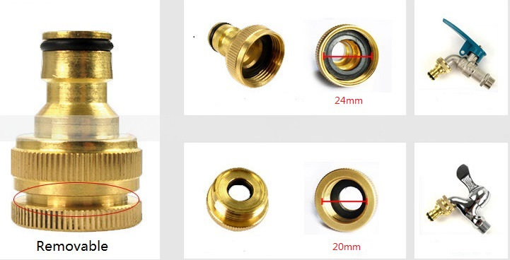 Inch to female threaded faucet tap adapter